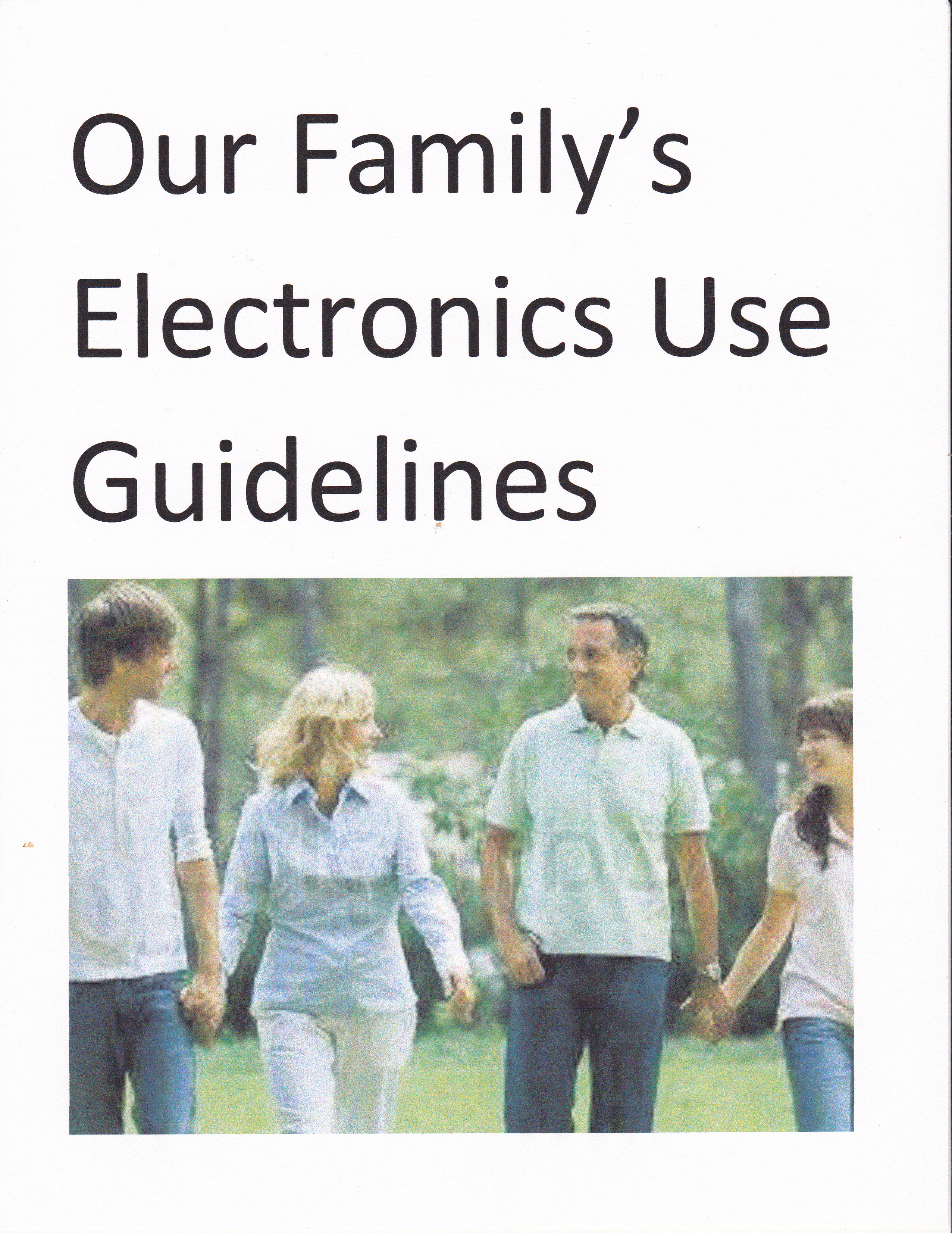 How to Set Your Family's Electronics Use Guidelines